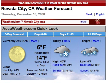 Nc Media Watch More Global Warming In Nevada City