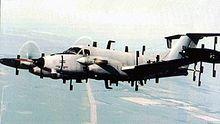 220px-Beechcraft_RC-12N_Huron_in_flight